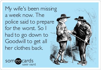 My Wife's Been Missing A Week Sextile Best Missing My Wife