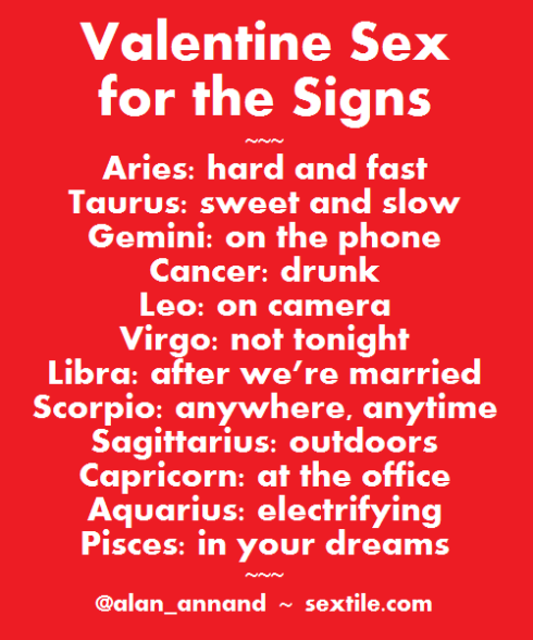 Valentine Sex For The Signs Sextile